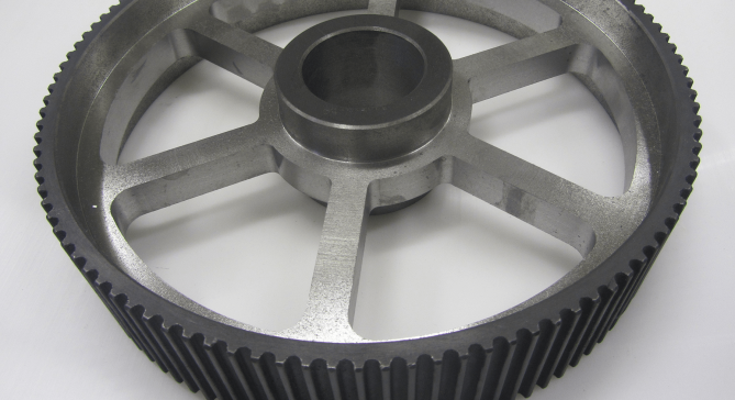 CNC machined steel and plastic