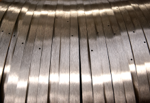 Stainless grain on a rolled products