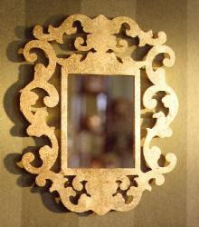 Brass lasercut mirror produced for an interior designer