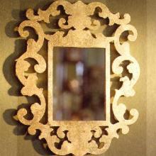 Brass lasercut mirror produced for an interior designer