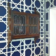 Lasercut trellis in steel