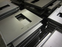 Folded mild steel enclosure parts