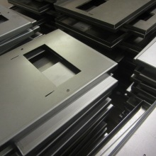 Folded mild steel enclosure parts