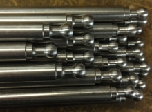 Steel cnc machined ends on cnc mill