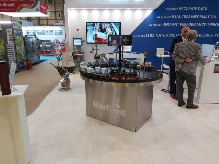 Harford's exhibition stand with their completed project